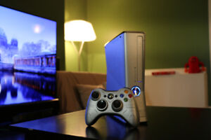 Halo Reach Xbox 360 Slim w/ S-RGH + Modded LED's + Flashed Drive