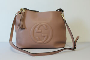 GUCCI PINK LEATHER HANDBAG TOTE WITH STRAP