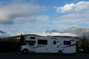 Enjoy fall or winter camping and rent our Class C Motorhome!