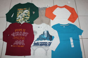 SIZE 5 BOYS CLOTHING 7 - PIECE LOT PANTS SHIRT ** NEW **