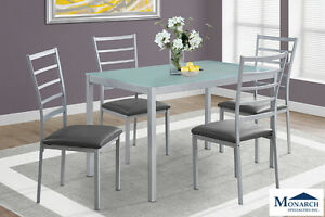 Brand NEW Silver Metal Dinette Set! Call 705-253-1110!
