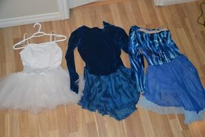 2 dresses for figure skating and one ballet dress - child