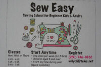Beginner sewing lessons for kids and adults