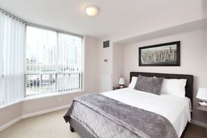 Short rental furnished 2bedrm 2bath corner condo in waterfront