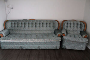 Large sofa+rocking chair 80$ for ALL!