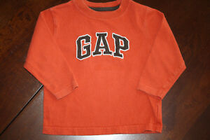 Baby GAP Long Sleeve Logo Shirt- 2T