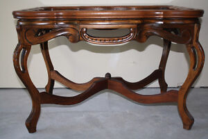 Vintage Solid Walnut Serving Table