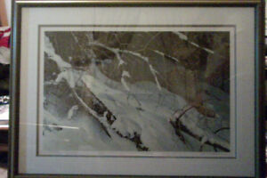 ROBERT BATEMAN  COUGAR IN THE SNOW  9545/11857