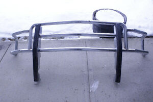 Chrome Grille Guard for a Ford