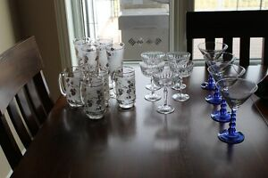 Beer glasses / martini glasses / cocktail glasses