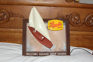 VINTAGE & RARE STROH'S LIGHTED BOAT BEER SIGN NEW PRICE