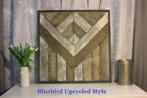 Handcrafted Reclaimed Wood Wall Art
