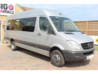 2012 MERCEDES SPRINTER 513 CDI 129 XLWB 17 SEAT BUS HIGH ROOF DRW MINIBUS DIESEL