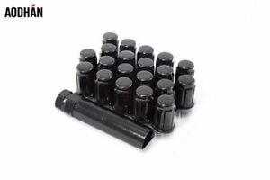 20Pc 12X1.25 Aodhan Spl35 Lug Nuts Black Fits Xxr Esr Esm Str Rota Varrstoen