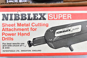 Sheet metal cutting attachment for power hand drills. New stock.