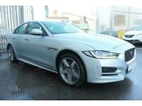 2017 SILVER JAGUAR XE 2.0 D 180 R-SPORT AWD DIESEL SALOON CAR FINANCE FR £337PCM