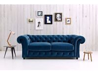 chesterfield sofabed in crushed velvet(different colors)