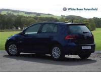 2017 Volkswagen Golf S 1.4 TSI 125PS 6-speed Manual 5 Door Petrol blue Semi Auto