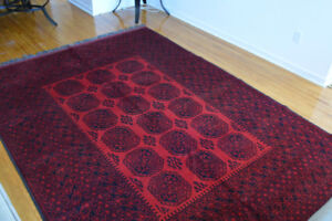 7X10 Ft Afghan Turkoman Hand Knotted Elephant Foot rug
