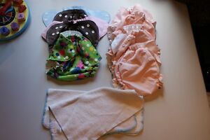 "huge lot of ""all in one"" diapers:   AMP, etc"