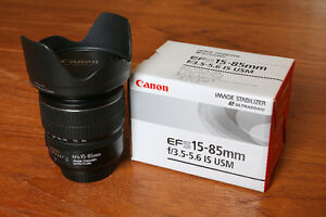 $650 · Canon 15-85mm f3.5-5.6 IS USM lens