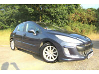 2008 08 PEUGEOT 308 VTI 1.6 SE 120 bhp PETROL FULL LEATHER GLASS ROOF