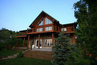 Waterfront Log Home for Sale on Joe Lake in Hanmer