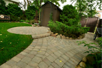Interlocking patios driveways retaining walls