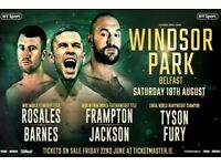 Frampton, fury 18 August Windsor Park 4 tickets