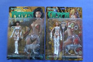 Lady Vampires (2) Figures GLYPH & RAYVN (FACTORY SEALED)