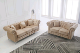 Designer sofa set. Fully padded seats BRAND NEW Collection or delivery