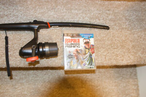 PS3 Rapala Pro Bass Fishing game with rod controller.