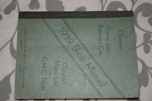 Rare 1939 shop manual for chevrolet and 2200 Pontiac