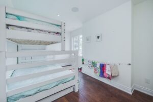 Two Custom Connecting Bunk Beds