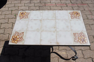 Tile-top end table - $60