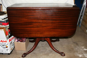 Antique Dining Table with Ball & Claw Feet