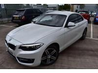 2016 16 BMW 2 SERIES 1.5 218I SPORT 2D-PEARL PAINT-CLIMATE CONTROL-1 OWNER