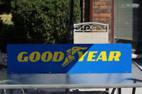 Large Double Sided Goodyear Metal Sign