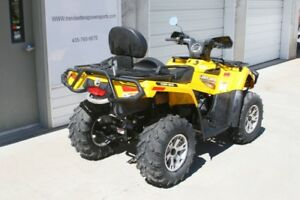 Can Am Outlander 2 seater Quad with snow plow