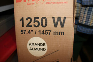 3 New 240 Volt Almond Electric Baseboard Heaters