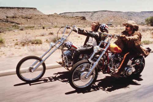 EASY RIDER FONDA HOPPER HARLEY CHOPPER MOTORCYCLE POSTER PRINT COLOR 24x36 9MIL