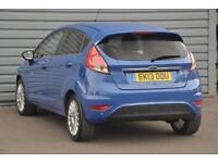 2013 Ford Fiesta 1.6 Titanium Powershift Petrol blue Semi Auto