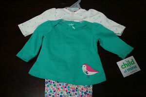 Newborn size baby girl brand new clothes (5 pieces)