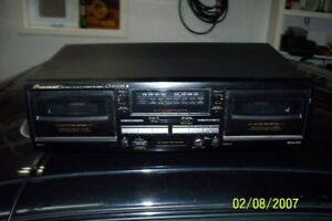 Pioneer Stereo Double Cassette Player