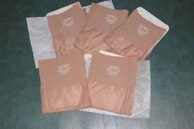 """SALE 5 pair Vintage OUTSIZE 11 1/2  X 36"""" seamed nylon stockings Beige plus size"""