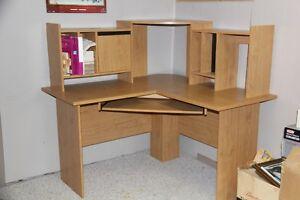 Corner computer desk- light oak colour