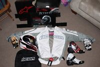 Brand New never used with tags Icon/Alpinestars sports bike gear