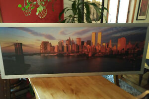 Collectors item: eye catching old World Trade Center print.