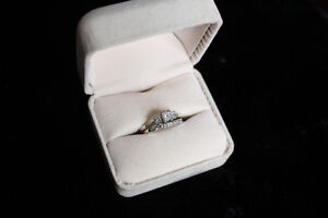 Diamond and White Gold Wedding Set