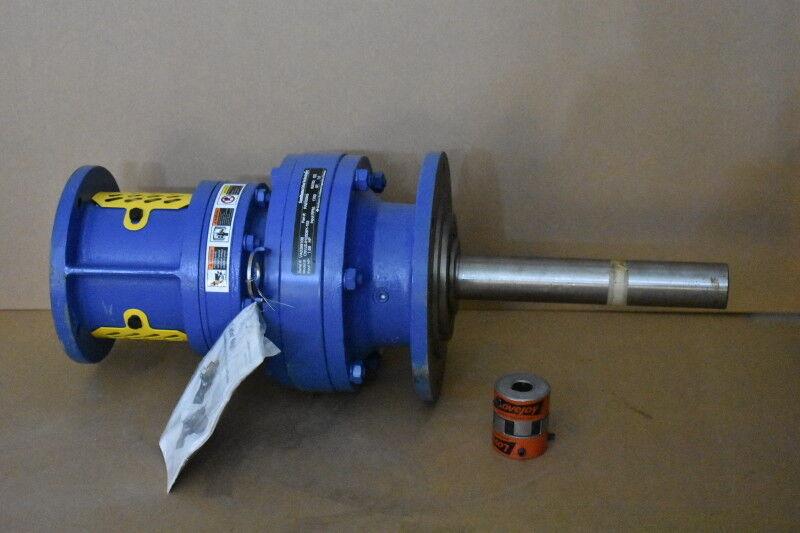 Gear reducer, 102:1, Inline, For 1.68 hp 56C, Cyclo 6000 CNVJS-6125DBY, Sumitomo